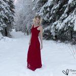 Självporträtt - Lady in red - Vinter 2017