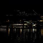 Kvällsutsikt över hamnen, Örnsköldsvik.