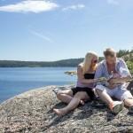 Härlig picknick i Skommarhamn, fin familjebild