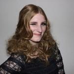 Självporträtt! Hårmodell på hairshow hos Biltema, med Ann Pettersson frisörskola