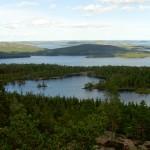 Utsikt från Slåttdalsskrevan, Skuleskogen